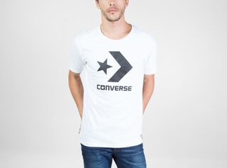 Polera Blanca Star Converse,Carbón,hi-res