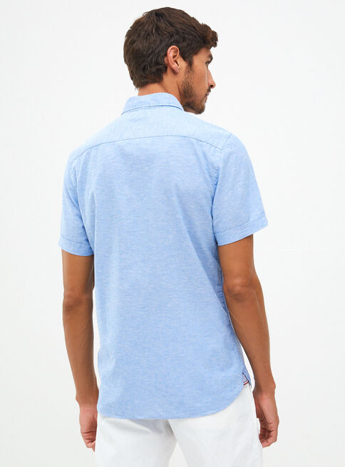 Camisa%20Manga%20Corta%20Algod%C3%B3n%20Lino%20Tommy%20Hilfiger%2CCeleste%2Chi-res