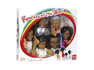 Set 6 Títeres de Familia Africana Showtime,,hi-res