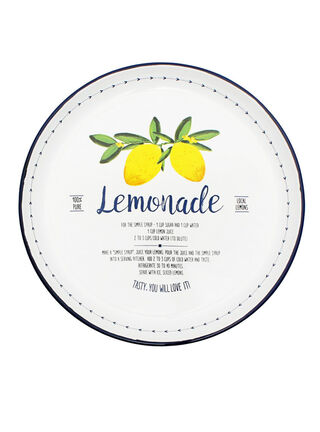 Bandeja Enloza Lemon Sarah Miller 37 cm,Lino,hi-res