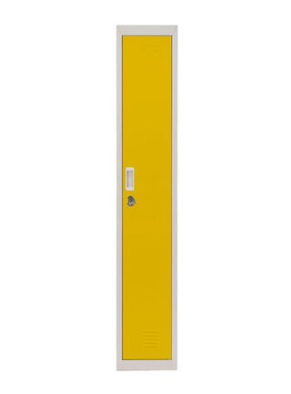 Locker Office Portacandado Amarillo 1 Puerta 28x50x166 cm Maletek,,hi-res