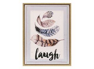 Canvas Plumas Laugh 30 x 40 cm Attimo,,hi-res