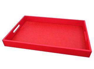 Bandeja Eco Cuero Rojo 52 x 34 cm Attimo,,hi-res