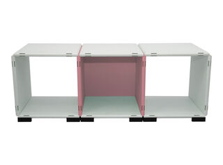 Mueble Modular Set 11 Piezas Blanco Rosa Kab Möbel,,hi-res