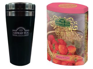 Fine Tea Strawberry + Travel Mug Ahmad,,hi-res