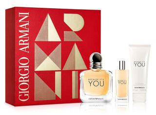 Set Perfume Giorgio Armani Cofre Emporio Armani Because It´S You 100ml + 15ml + Gel De Ducha 75ml,,hi-res