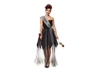 Disfraz Reina de Belleza Zombie Mujer Carnaval,Único Color,hi-res