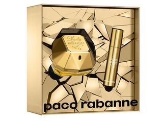 Set Perfume  Paco Rabanne Lady Million EDP 50 Ml + Travel Spray 10 Ml,,hi-res