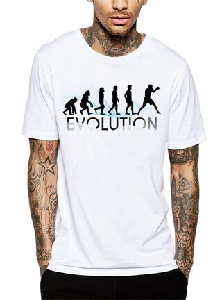 Polera Evolution Boxing Get Out,Blanco,hi-res