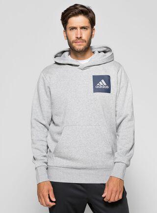 Polerón Adidas Hombre Essentials Logo Gris,Gris,hi-res