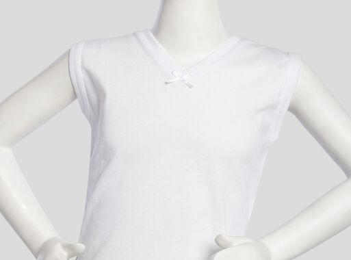 Camiseta%20Algod%C3%B3n%20Ni%C3%B1a%20Cuello%20V%20Sin%20Mangas%20T2-4-6-8%20Tais%2CBlanco%2Chi-res