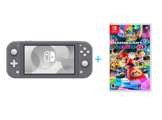 NINTENDO SWITCH LITE GREY + JUEGO NINTENDO SWITCH MARIO KART 8 DELUXE