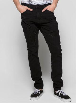 Jeans Slim Fit Básico Liso Alexis Collection JJO,Negro,hi-res