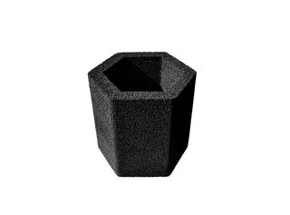Macetero Panal Muka Tamaño L 32 x 33.5 cm,Negro,hi-res