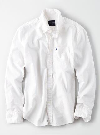 Camisa Lisa American Eagle,Blanco,hi-res