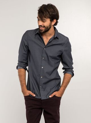 Camisa Lisa Slim Fit Non Iron Perry Ellis,Azul,hi-res