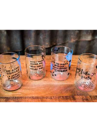 Set 4 Vasos Dilo Con Glass Green Glass,,hi-res