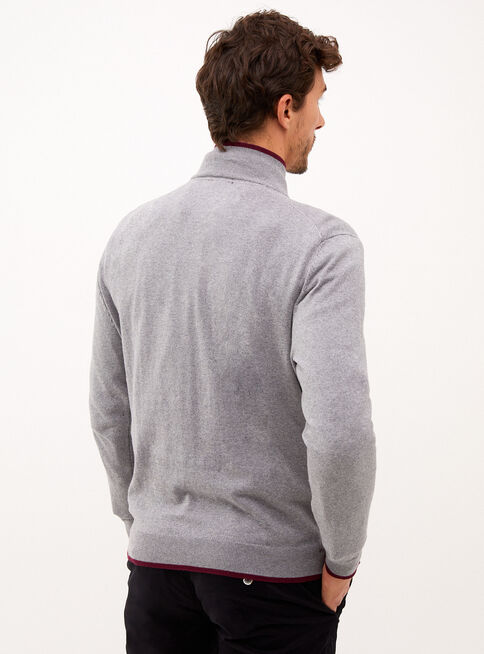 Sweater%20High%20Collar%20Grey%20Melange%20Trial%C2%A0Sport%2CGris%2Chi-res