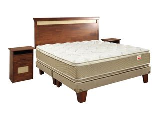Box Ibérico Cotton Organic Super King Base Dividida Celta + Set Muebles Bamboo,,hi-res