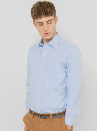 Camisa Nom-Iron Milano Fit Spread Coolar Brooks Brothers,Celeste,hi-res