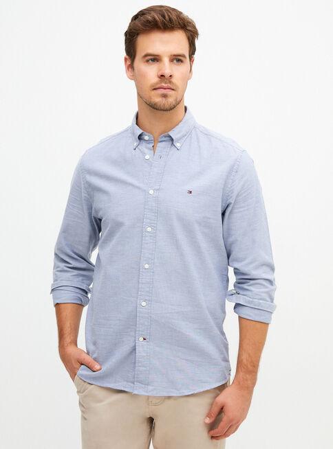 Camisa%20Oxford%20B%C3%A1sico%20Regular%20Fit%20Tommy%20Hilfiger%2CAzul%2Chi-res