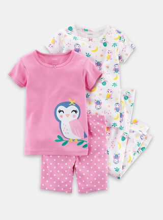 Pijama 4 Piezas Niña 6 A 24 Meses Carter's,Diseño 1,hi-res