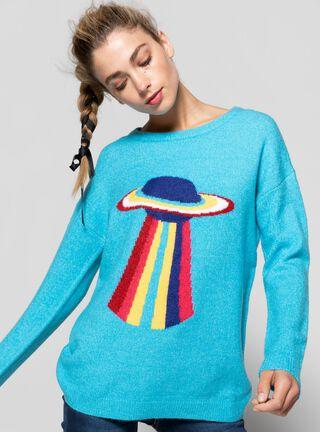 Sweater Vintage Opposite,Turquesa,hi-res