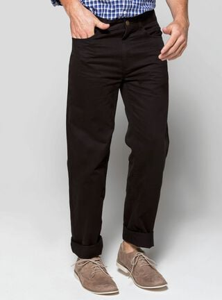 Pantalón Twill 5 Bolsillos Essential Rainforest,Negro,hi-res