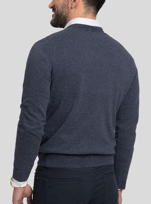 Sweater%20Algod%C3%B3n%20Cuello%20V%20Melange%20Arrow%2CAzul%20Marino%2Chi-res