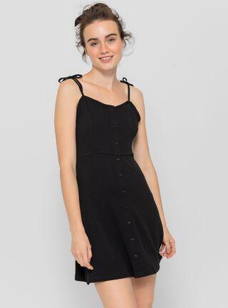 Vestido Escote Recto Opposite,Negro,hi-res