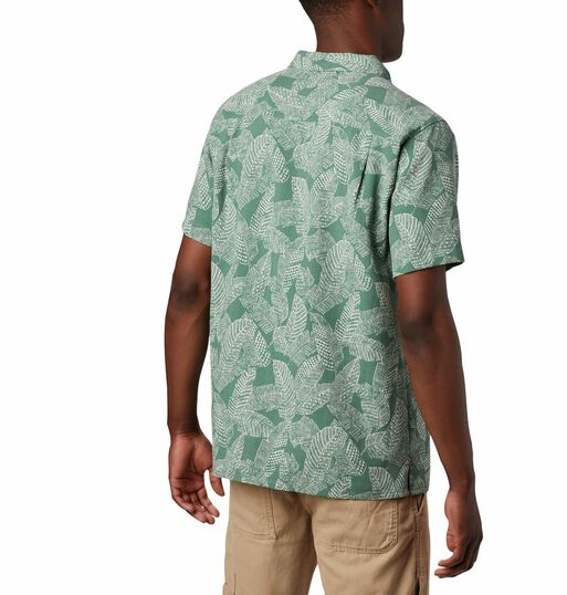 Camisa%20Hombre%20Lakeside%20Trail%20Verde%20Columbia%2Chi-res