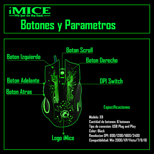 Mouse%20Gamer%20Premium%20Imice%20X9%202400%20Dpi%20Retroiluminado%2Chi-res