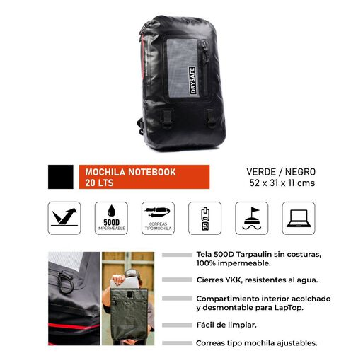 Mochila%20Notebook%2020%20L%20Waterproof%20-%20Drysafe%20-%20Gris%2Chi-res