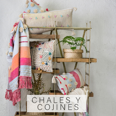Chales y cojines umbrale Decobook Textil