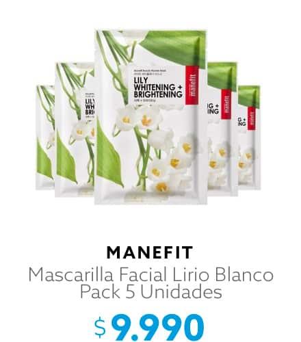 Mascarilla Facial Lirio Blanco Pack 5 Unidades