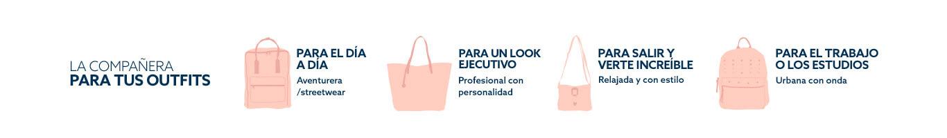 Descripción de mochilas y carteras según ocasión