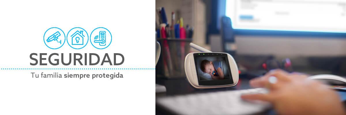 Monitores y cámaras de seguridad para cuidad infantil