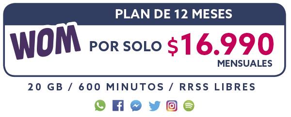 Plan 12 Meses por solo $16.990 Mensual