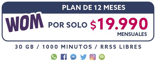 Plan 12 Meses por solo $19.990 Mensual
