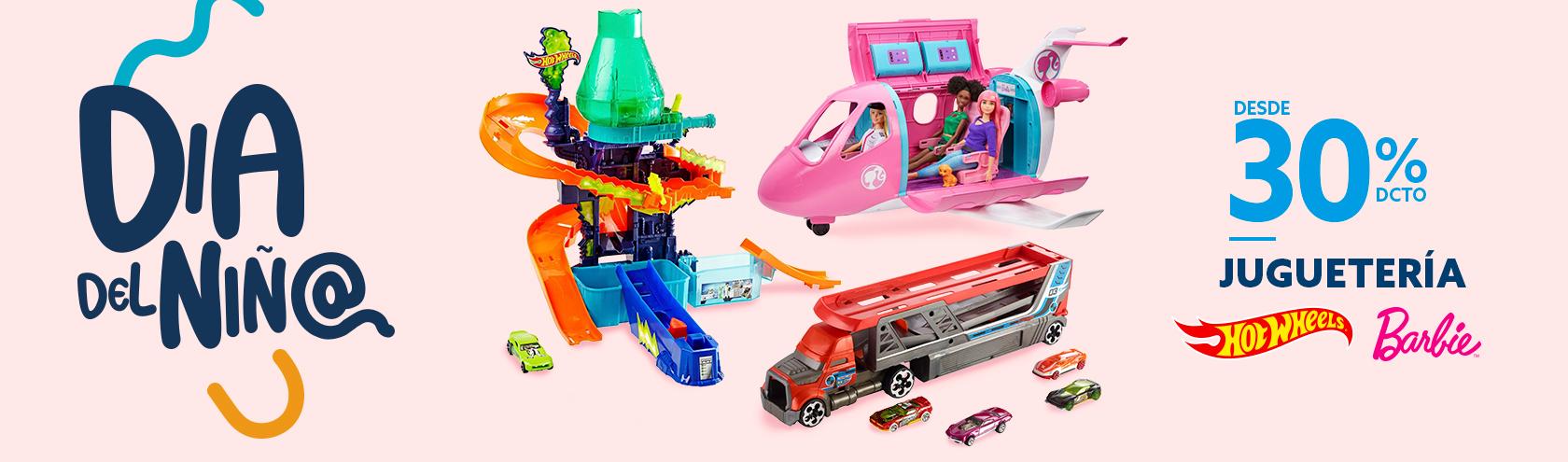Barbie y Hotwheels desde 30% dcto
