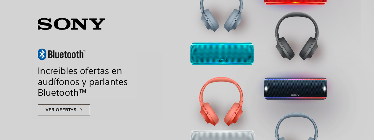 Increibles ofertas en audífonos y parlantes Sony