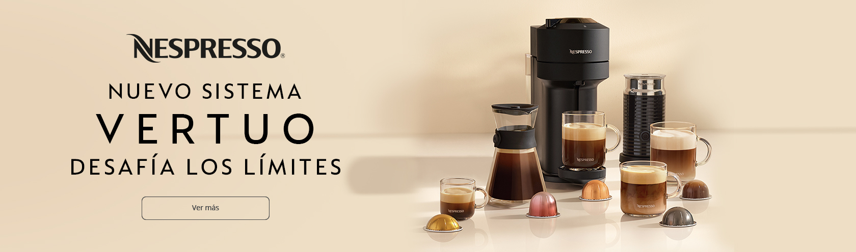 Lanzamiento Vertuo Nespresso
