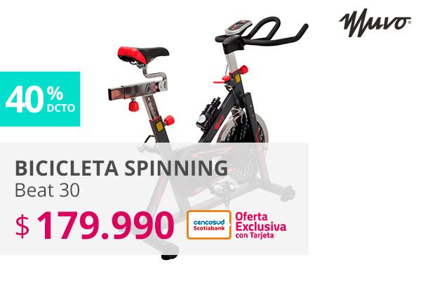Bicicleta Spinning Beat 30 179990 pesos