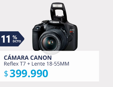 Cámara Reflex Canon T7 + Lente 18-55MM