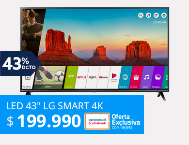 LED 43 LG Smart TV Ultra HD 4K 43UK6200