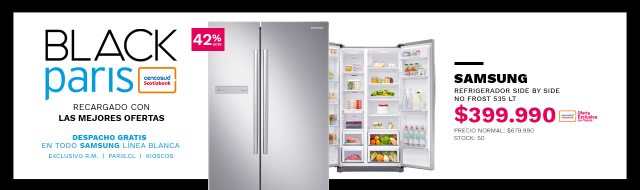 Refrigerador Samsung Side by Side No Frost 535 Lt RS54N3003SL/ZS
