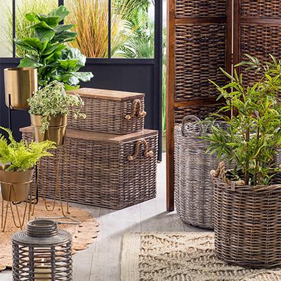 Canastos plantas y portaplantas
