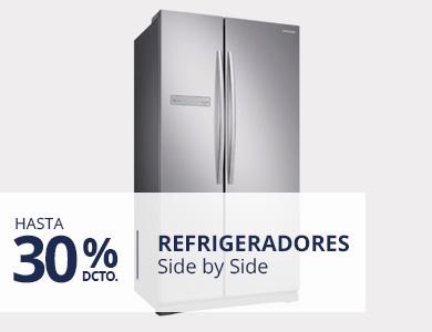Hasta 30% descuento en refrigeradores Side by Side