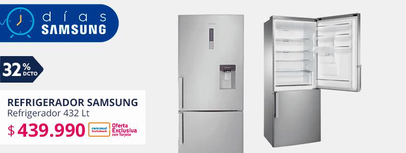 Refrigerador No Frost Combi Samsung RL4363EBASL/ZS 432 Lt