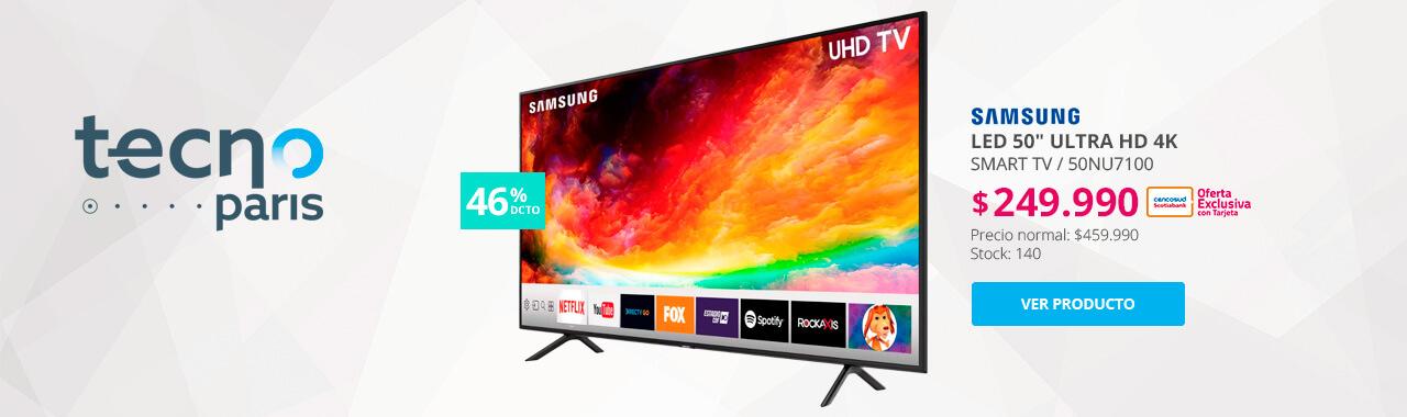 46 por ciento menos con tarjeta cencosud smart tv samsung